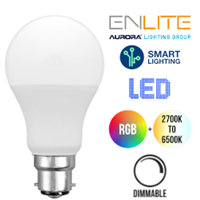 Aurora AOne Smart 9.5W LED Push In Bulb RGB + Tuneable White (BC/B22)