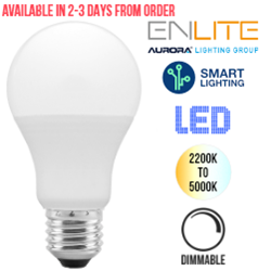 Aurora AOne Smart 9W LED Screw In Bulb Tuneable White (ES/E27)
