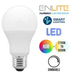 Aurora AONE Smart 9.5W LED Screw In Bulb RGB + Tuneable White (ES/E27)
