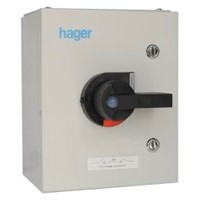 HAGER 32A TP+N STEEL SWITCH ISOLATOR