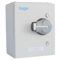 Hager 20A 3 Pole + Neutral Fused Steel Combination Switch