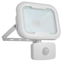 Robus REMY 10W LED Floodlight with Motion Sensor PIR White